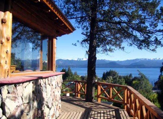Terraza vista lago y Montaña Bariloche Patagonia